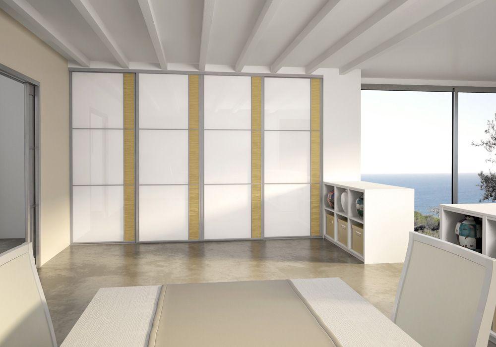 Salon Porte de placard SOGAL modèle Esquisse Décors Vernis
