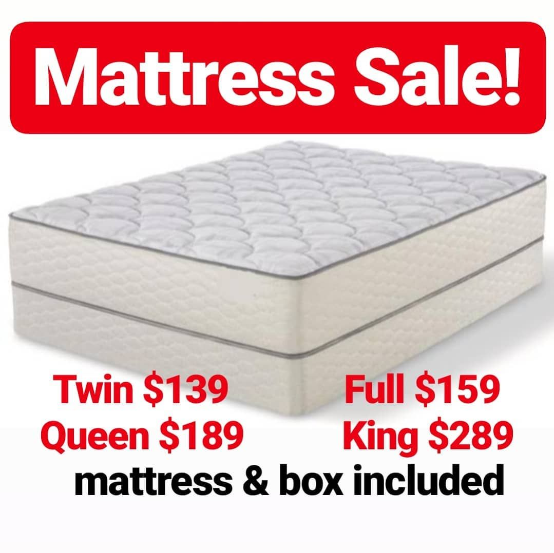 Mattress Sale Mattress Box Included Twin 139 Full 159 Queen 189 King 289 Delivery Available 90 Days Mattress Sales Mattress Mattress In A Box