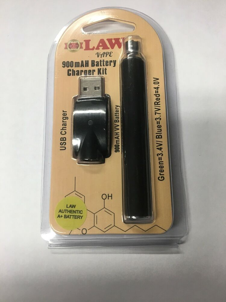 2x 510 Thread 900mAh Variable Voltage Battery Law Pen