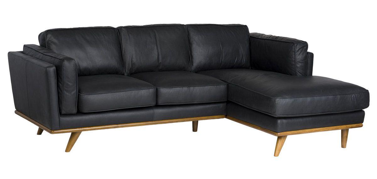 Las Vegas Aria Sofa Chaise Charme Black Leather