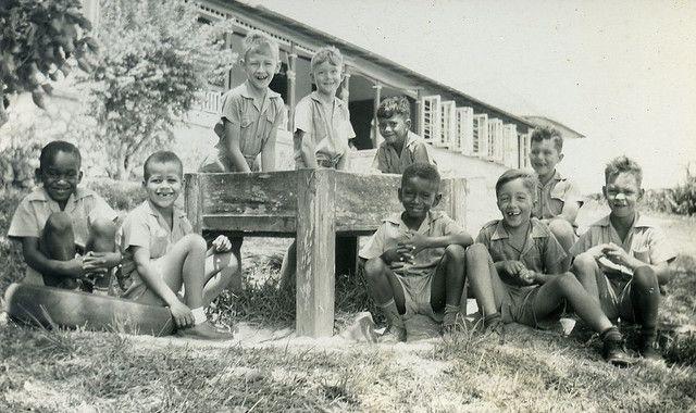 Hillcrest Prep Jamaican Boy's School in Brown's Town, St. Ann in mid-1950's