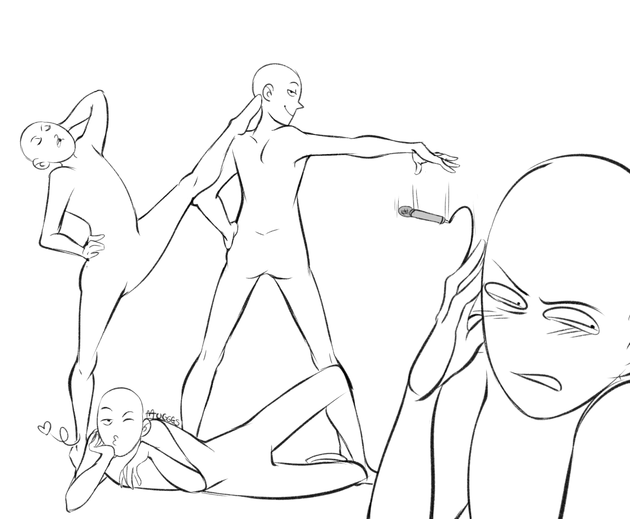 The Line Art Challenge : A for all squad drawing content mugges draw the