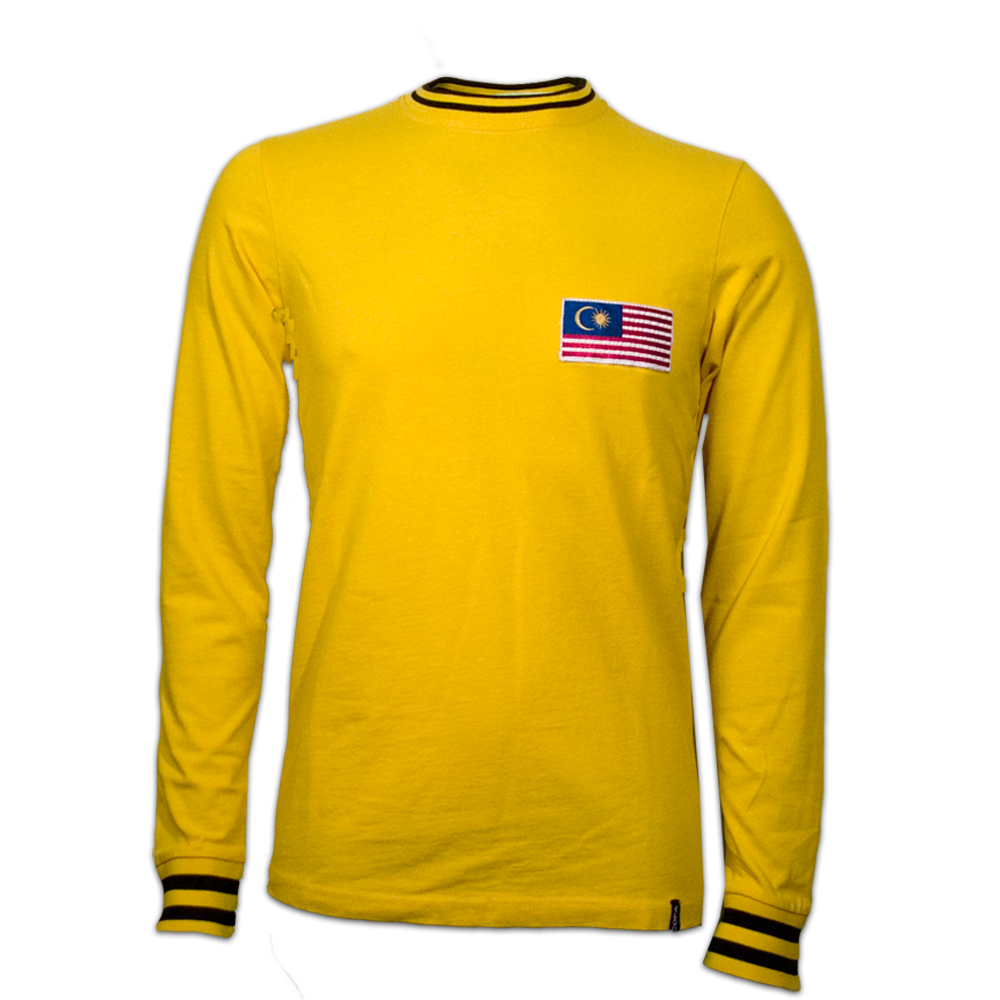 Malaysia 1972 Retro Jersey Retro Shirts Long Sleeve Tshirt Men Vintage Shirts