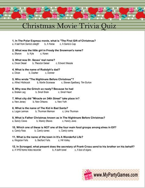 Free Printable Christmas Movie Trivia Quiz Game Christmas Movie Trivia Movie Trivia Quiz Free Christmas Printables