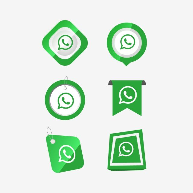 Whatsapp Icon Logo Collection Set, Whatsapp Icon, Whatsapp