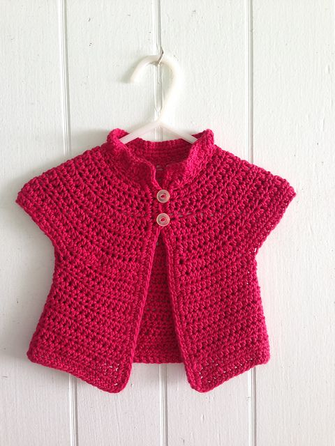 2b0f48f99 A simple crochet baby sweater written for folks who can not read ...