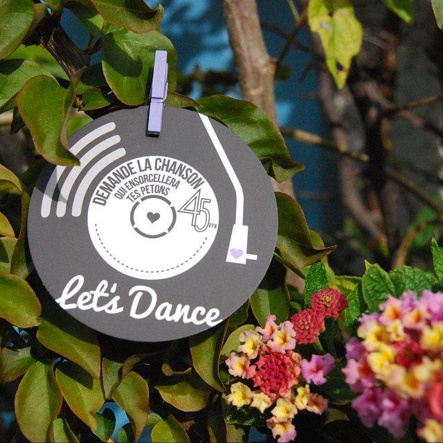 Invitations de mariage / fête – Rock N Roll Design disque vinyle
