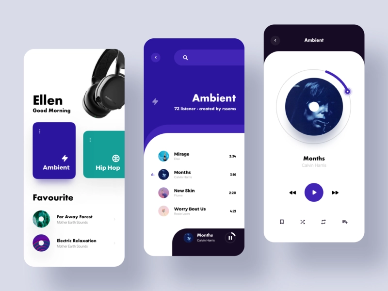 Customize Your Music By Sam Dribbble Mobile Design App Design Layout