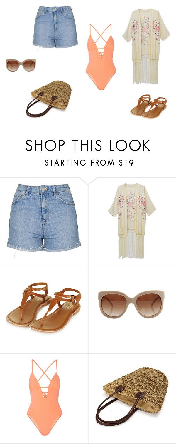 """BeacH"" by d-divaa on Polyvore featuring Topshop, WithChic, STELLA McCARTNEY and Tart"