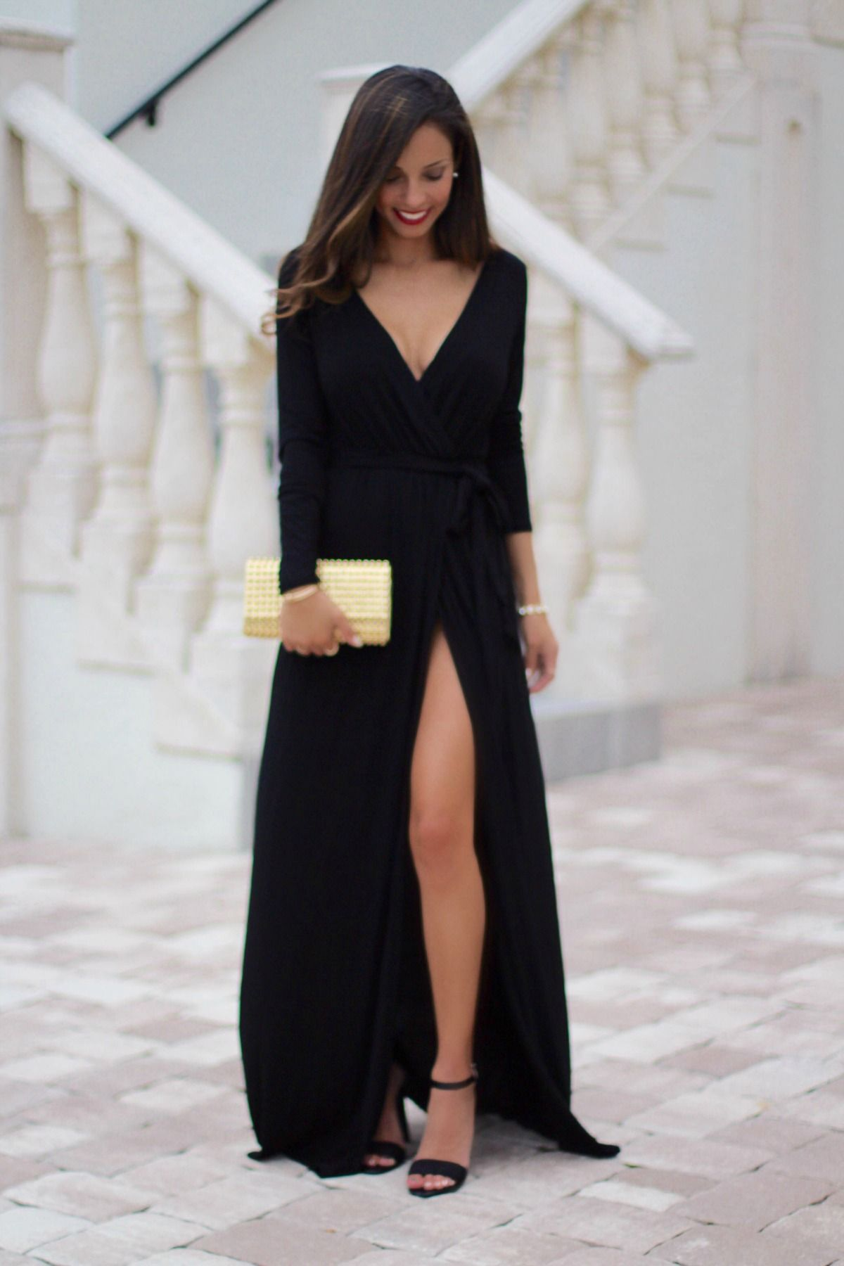 Farrah black maxi dress vestidos pinterest black maxi maxi