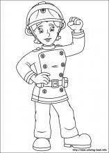 Fireman Sam Páginas para colorear en colorear-Book.info