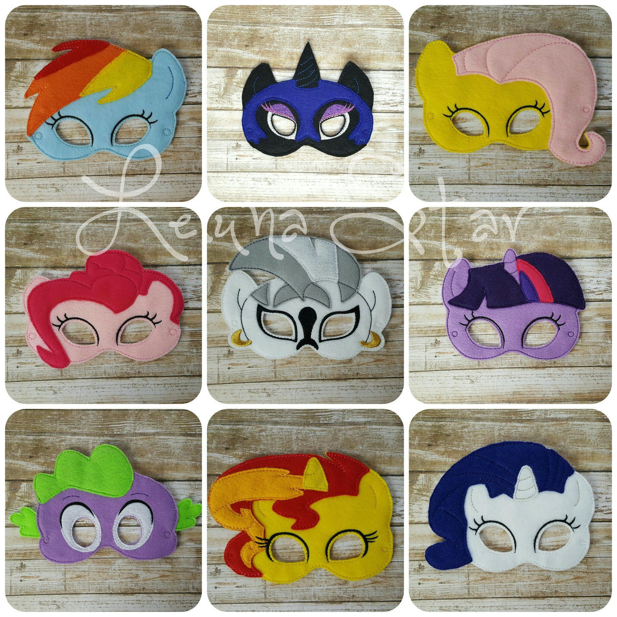"""Felt masks that fit toddler to child. Elastic is 12"""" laying flat and is adjustable,. We have so many masks that may not be listed here, so if you are looking for something not listed - send us a message - we probably have it!! If you choose the """"Two Masks for $18"""" option - please write in the Note section when checking out which masks you would like. ****** Please review our Shipping & Returns page for our current production time We are a small business and do our best to prepare our orders with"""