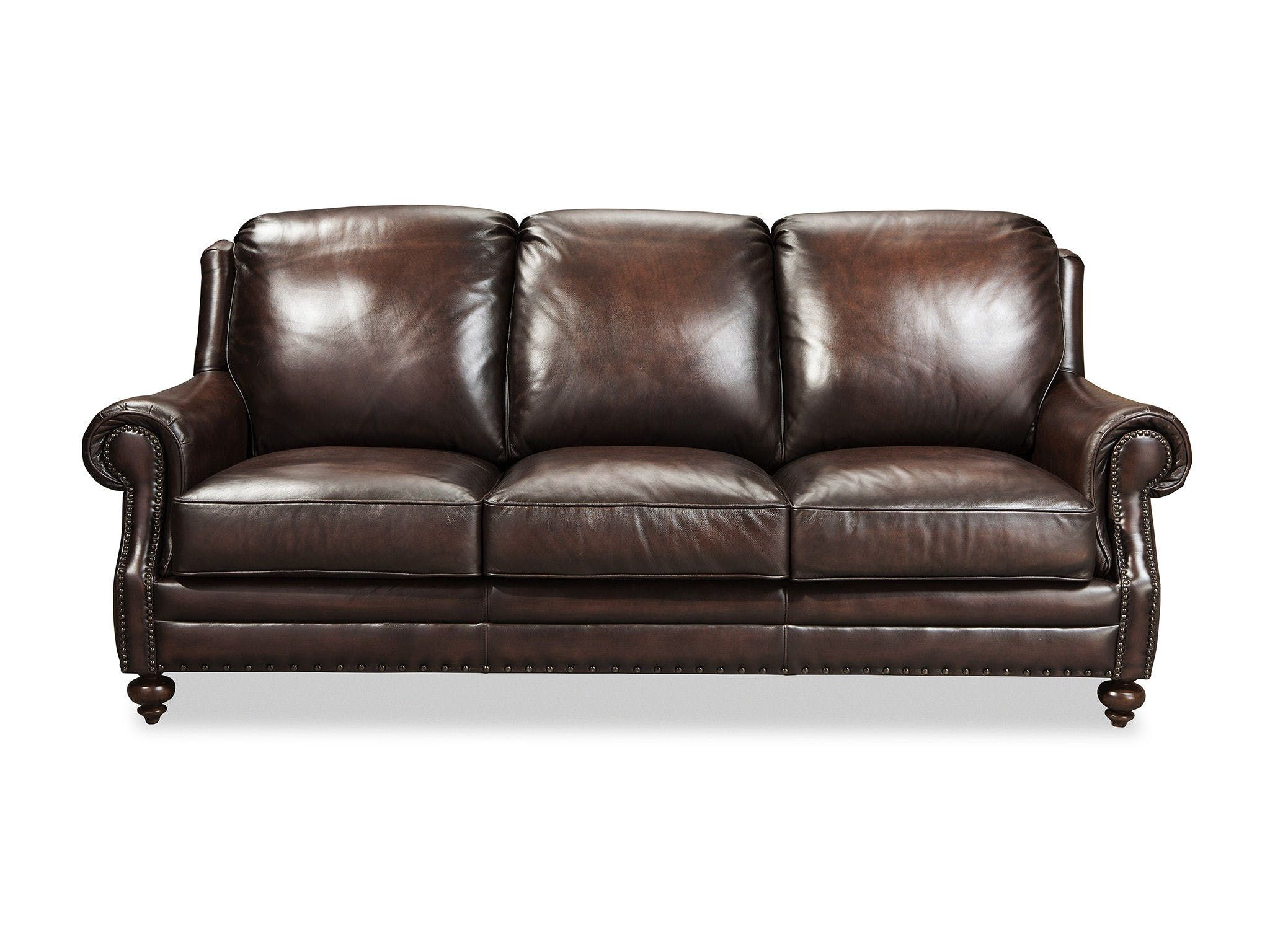 A Beautifully Tailored Clic 8 Way Hand Tied Leather Sofa