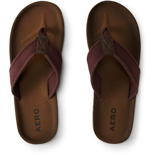 37d6b9103 Aeropostale Solid Canvas Flip-Flop ( 18) ❤ liked on Polyvore featuring men s  fashion