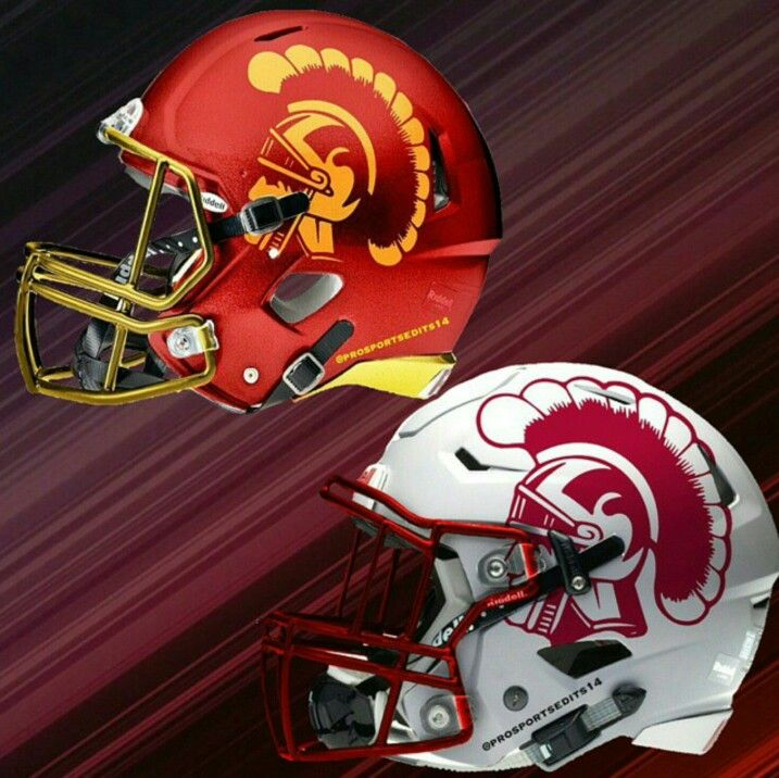 Oh Those Concept Helments Cool Football Helmets Trojans Football Usc Trojans Football