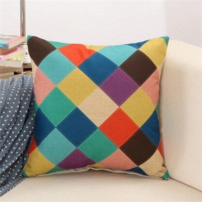 Cushion Creative Geometric Polyester Square - Without Inner