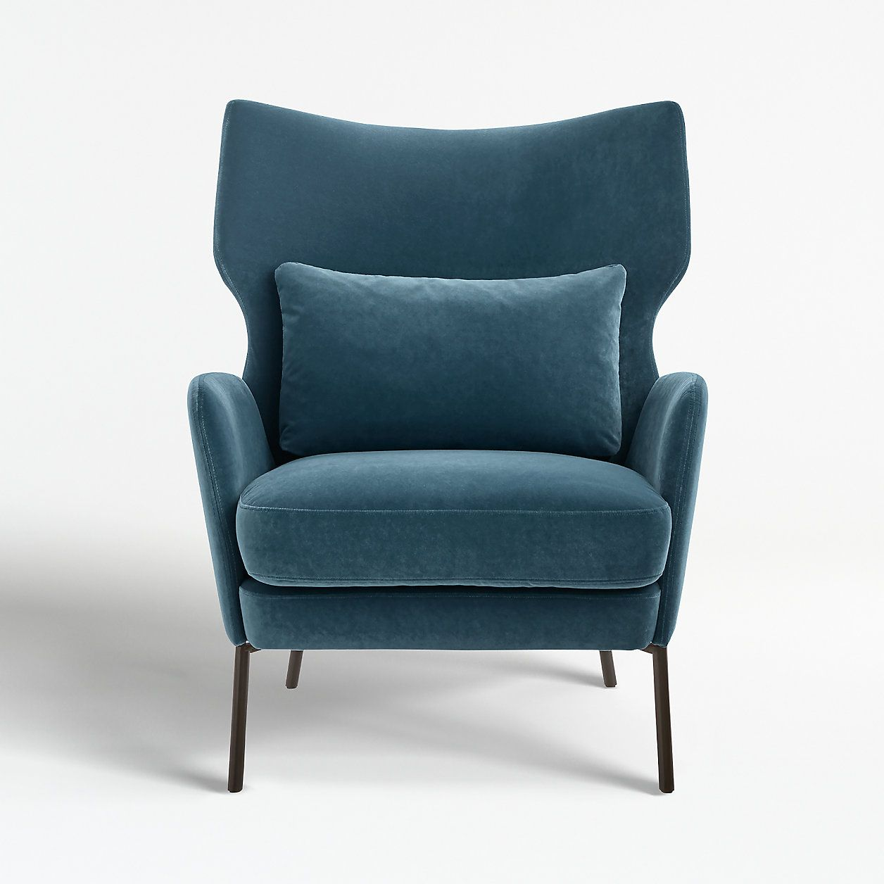 Alex navy blue velvet accent chair reviews crate and