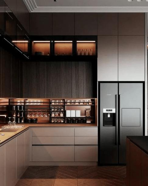 20 Dark And Elegant Kitchen Decoration Ideas Kitchen Room