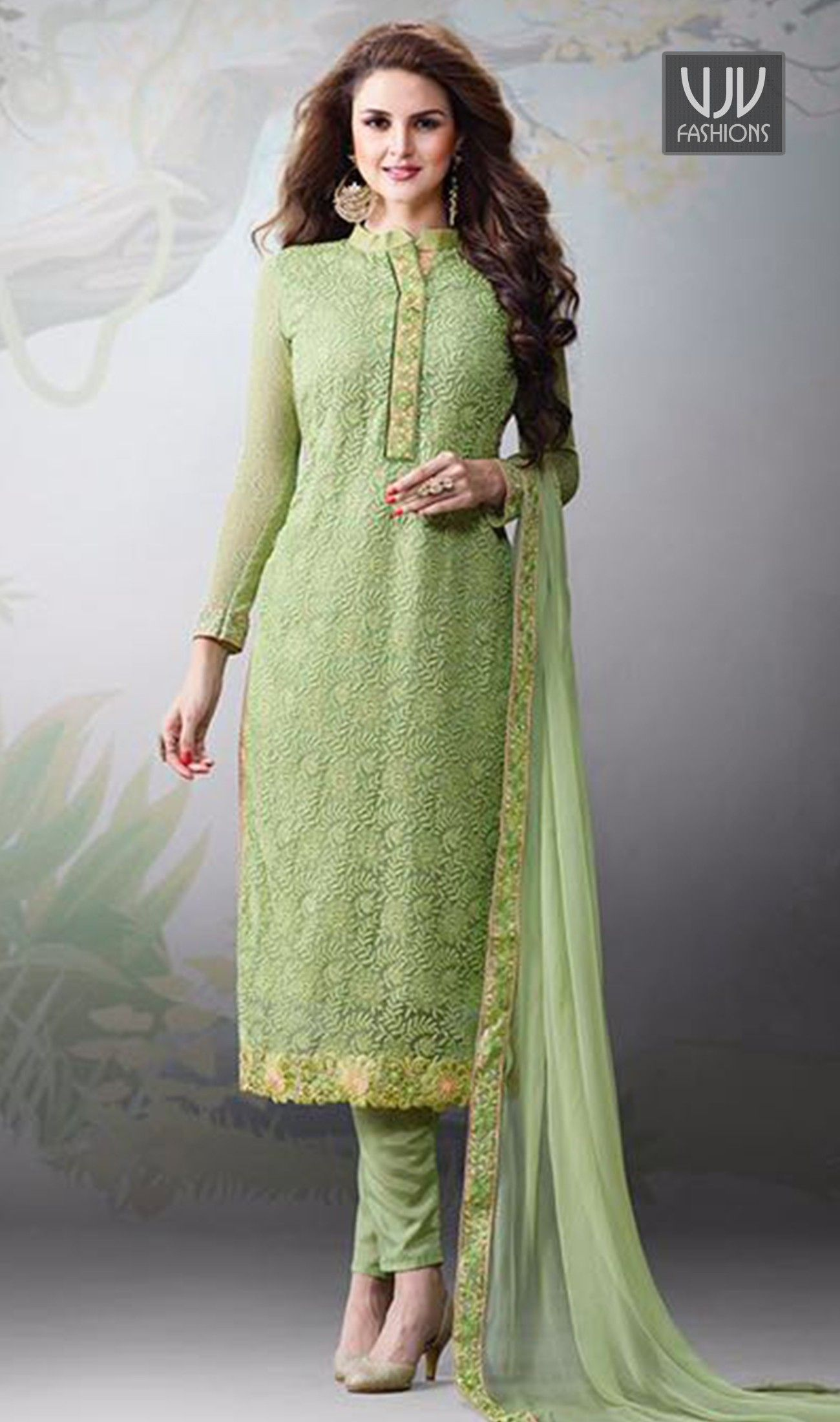 d5753a0468 Innovative Sea Green Color Churidar Designer Suit You are sure to make a  powerful style statement