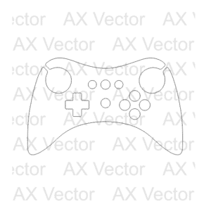 Microsoft Xbox One S Console Template, Xbox One S Console Contour Vector Template. Create your own skin with this accurate template.