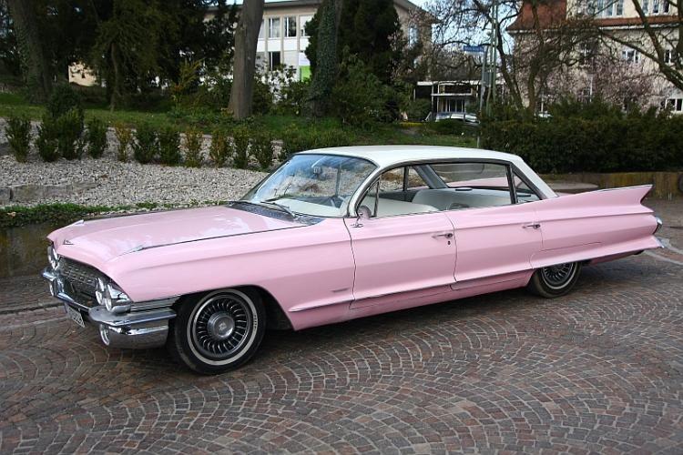 pinker cadillac oldtimer baujahr 1961 cars pinterest. Black Bedroom Furniture Sets. Home Design Ideas