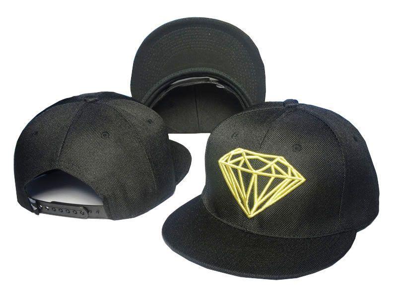 Hot Fashion Diamond Supply Co Snapback Style Baseball Hip-Hop Cool Cap Hat  Black 2544551110c