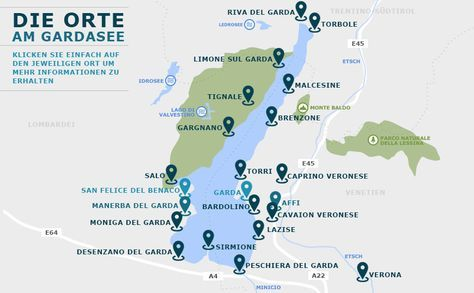 Gardasee Karte Gardasee Karte Urlaub Italien Gardasee
