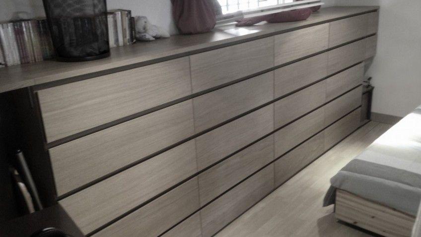 Transformation De Commodes Malm 4 Tiroirs En 5 Tiroirs Ikea
