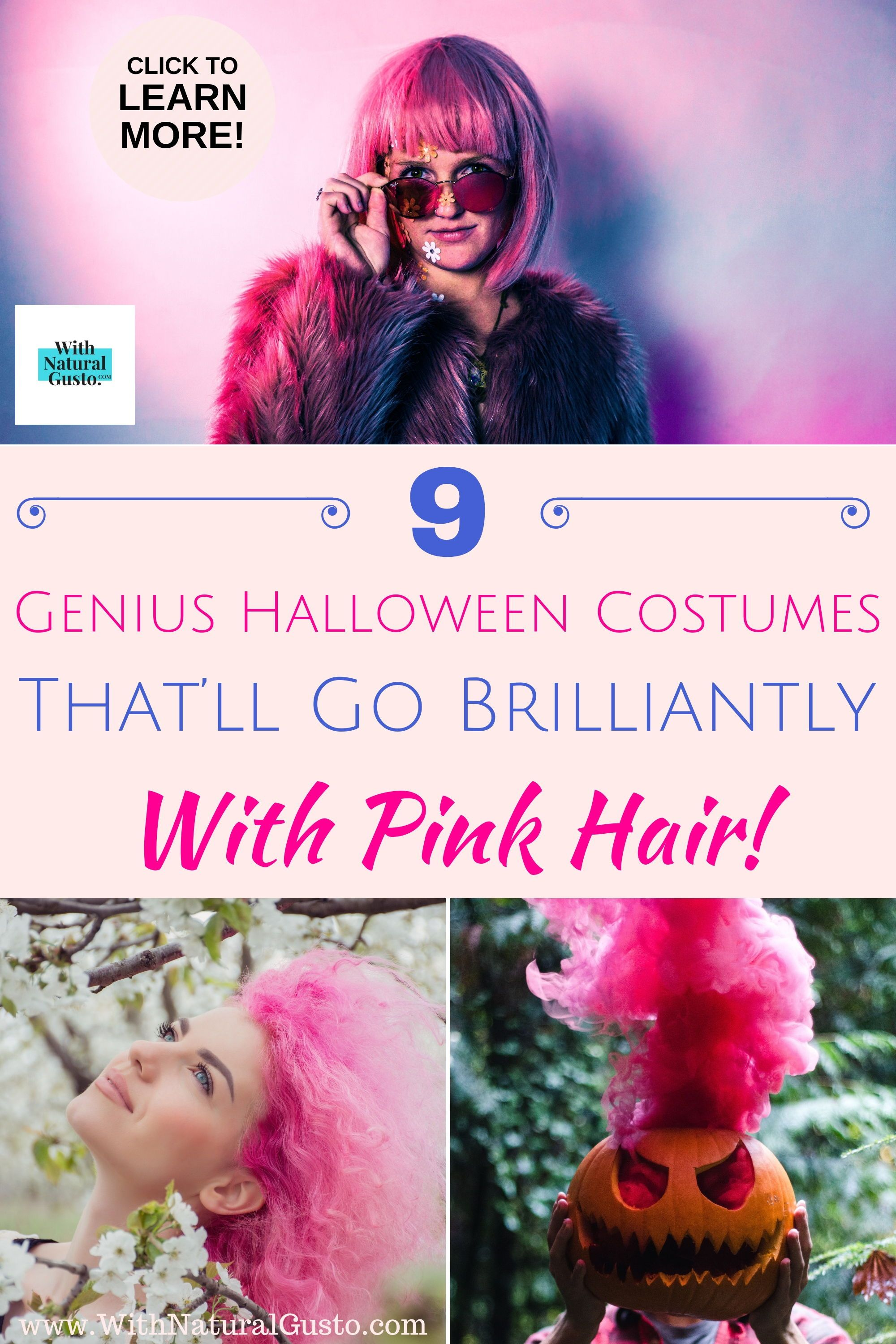 halloween pink hair fancy dress costume ideas make it simple