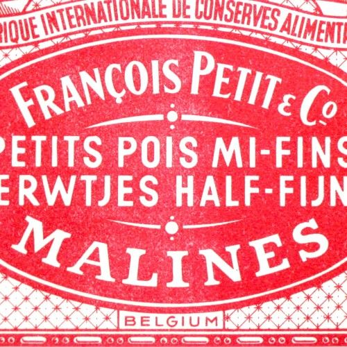Antique Vintage French Flemish Vegetable Peas Can Crate Labels