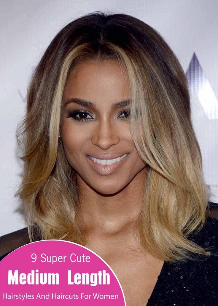 Cute Medium Length Hairstyles 9 Super Cute Medium Length Hairstyles And Haircuts For Women