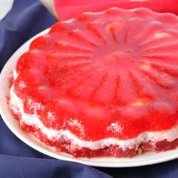 Strawberry Jello Sour Cream Layer Recipe Recipe Sour Cream Recipes Jello Mold Recipes Strawberry Jello