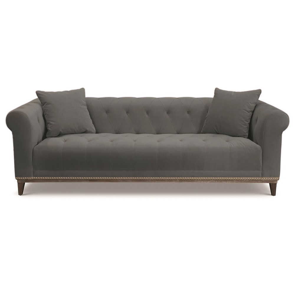 Traditional Slate Gray Sofa Marcella In 2020 Sofa Gray Sofa Rc Willey Furniture