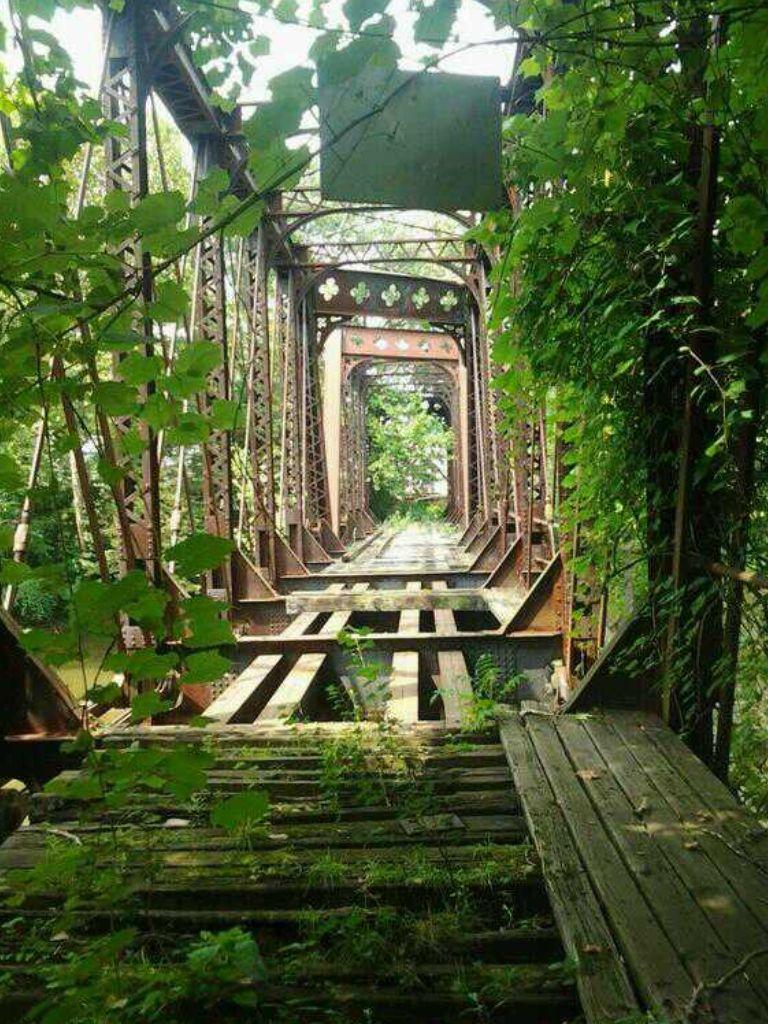 Abandoned Bridge In New Castle,PA.