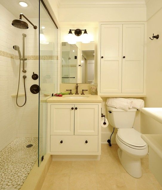 Ingenious Hideaway Storage Ideas For Small Spaces Small - Compact master bathroom designs