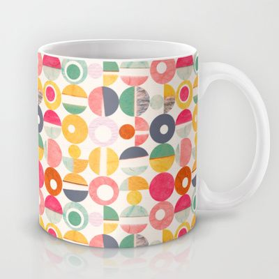 Shop for Paper Punch Dots Mug by Sara Franklin on Society6