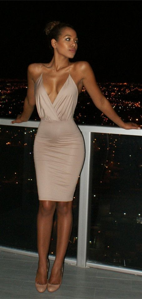 Plunging Neck Backless Criss Cross Bodycon Party Dress Backless Club Dress Fashion Bodycon Dress