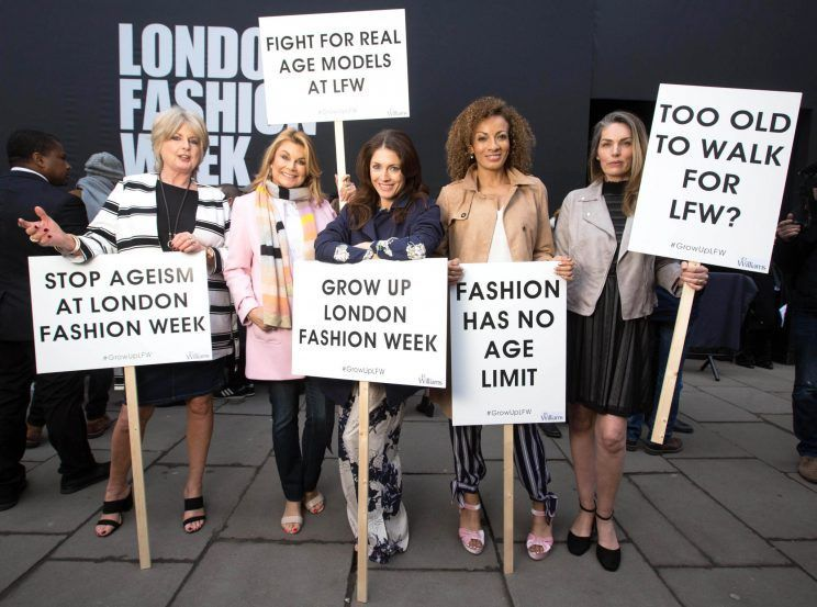 Should Models Be Older Ageism Protest Causes A Stir At London Fashion Week London Fashion Week Fashion Week London College Of Fashion