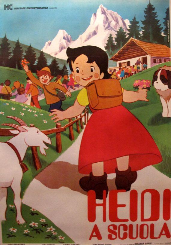 1985 Oversized Anime Movie Poster Italian Poster Japanese Etsy Vintage Cartoon Anime Movies Heidi Cartoon