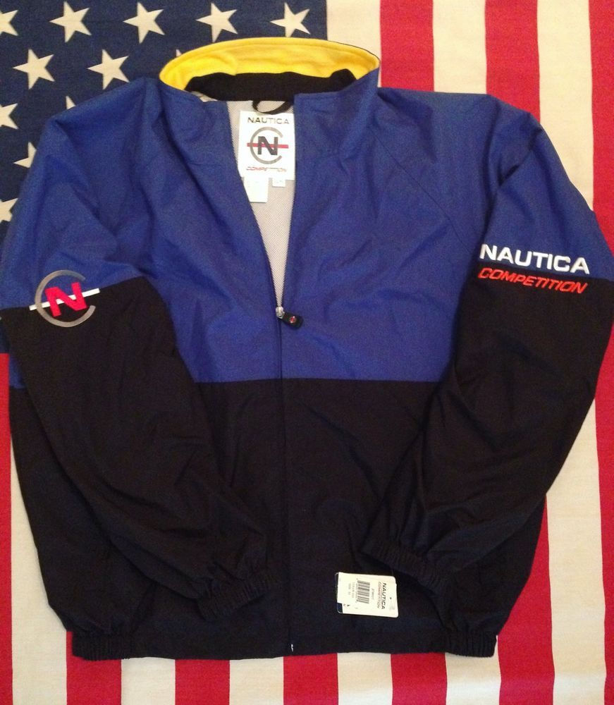 Vintage Nautica Competition Windbreaker Xl New With Tags 90s Hip Hop Rare Everyday Outfits Windbreaker Mens Jackets