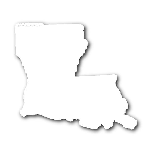 Louisana State Shape Sticker Outline Black State Shapes Louisiana Louisiana State