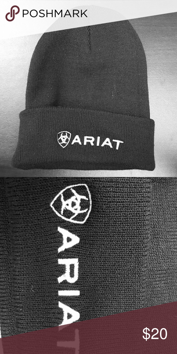 Ariat Awesome Black Beanie!! New wore once maybe twice. Ariat Accessories Hats