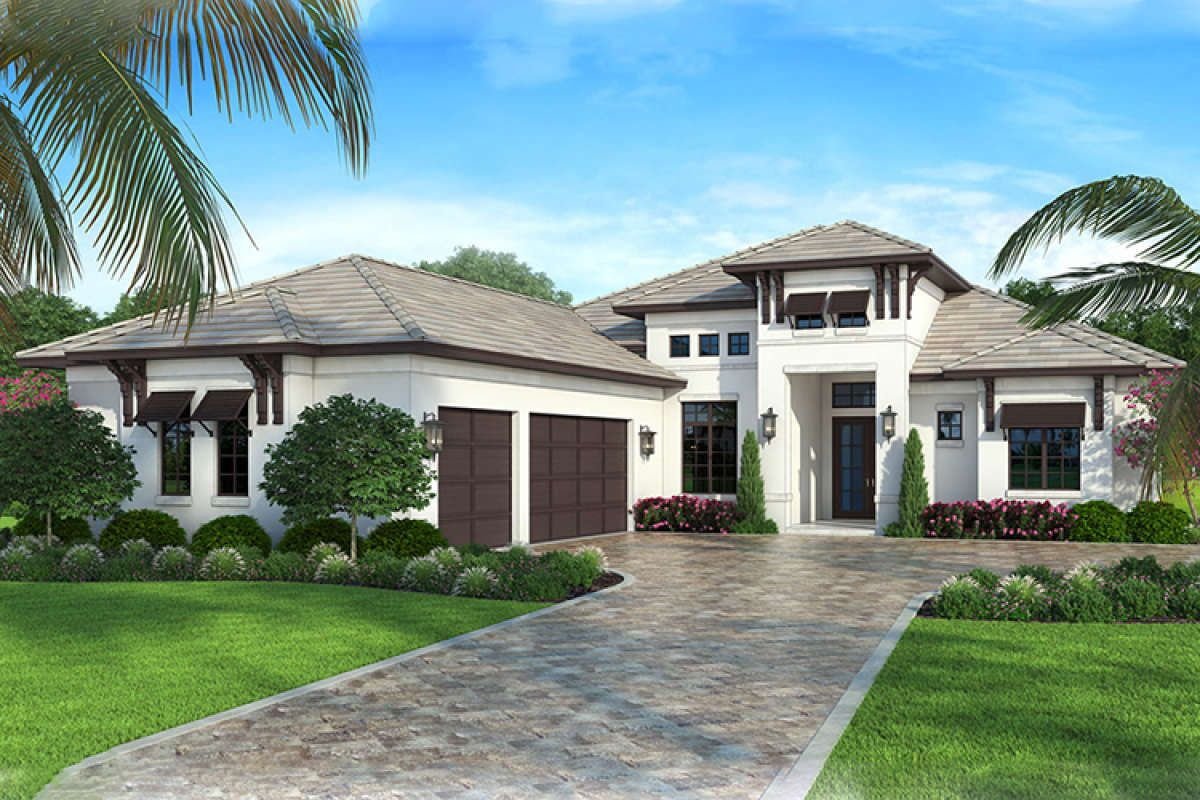 House Plan 207 00044 Florida Plan 2 400 Square Feet 4 Bedrooms 3 Bathrooms Florida House Plans Mediterranean Homes Exterior Contemporary House Plans