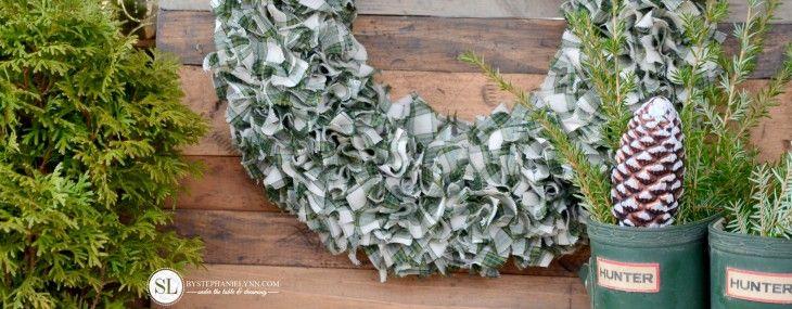 Photo of Plaid Fabric Wreath   how to make a rag wreath – bystephanielynn
