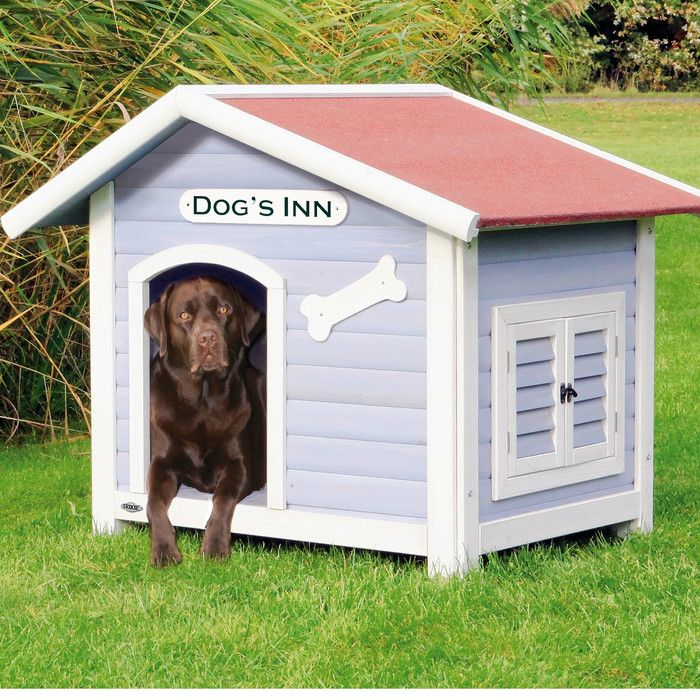 Liddle Dogeden Open Yard Series Dog House With Tie Out Wood Dog