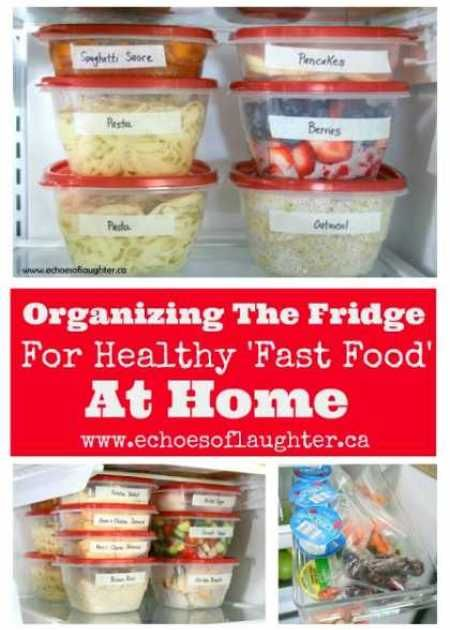 Organizing healthy fast food at home recipes pinterest organizing healthy fast food at home forumfinder Choice Image