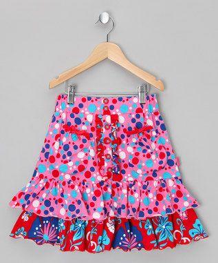 Pink Floral Skirt - Toddler & Girls