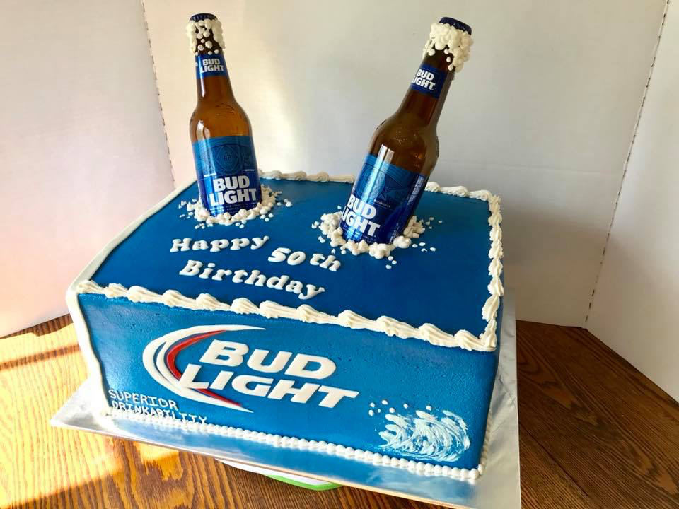 Sensational Bud Light Birthday Cake Birthday Beer Cake Beer Themed Cake Personalised Birthday Cards Cominlily Jamesorg