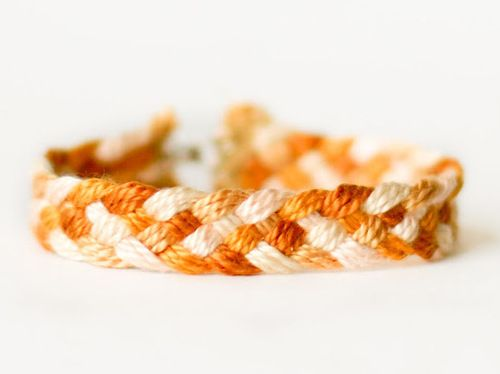 DIY Easy Five Strand Friendship Bracelet Tutorial from Flax...