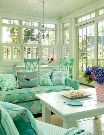 Florida Living Room Design Ideas: I Just Love These Colours. Everything Is Spot On For A